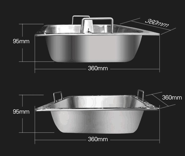 Smokeless Electric Hot Pot Induction Cooker size - CENHOT