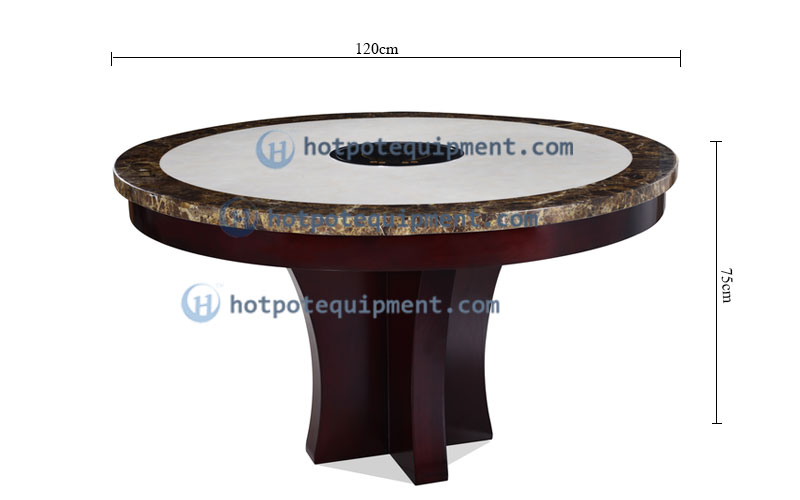 Top Quality Round Hot Pot Table Manufacturers China Size - CENHOT