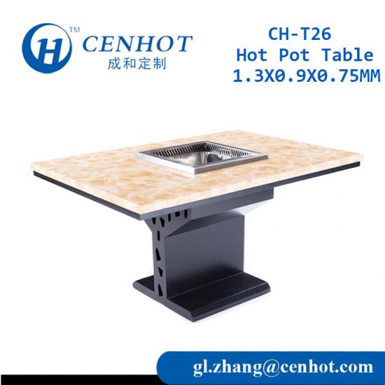 Metal Hot Pot Tables For Restaurant For Sale China Suppliers - CENHOT