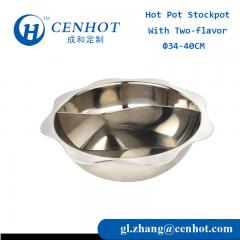 Top Quality Eight-square Stainless Steel Hot Pot Cookware Two-flavor Hot Pot Stockpot - CENHOT