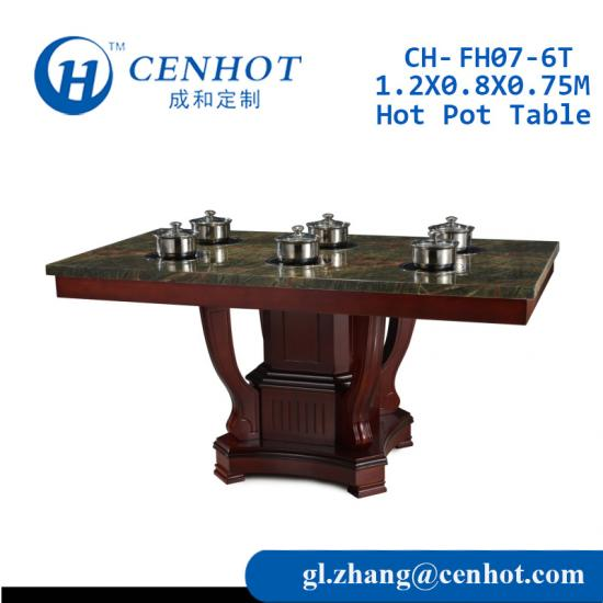 Artificial Marble Hot Pot Tables For Restaurant Manufacturers China - CENHOT