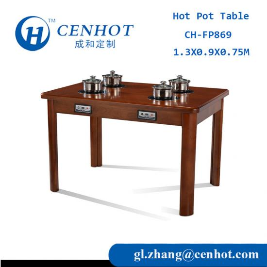 Hot Sale Square Solid Wooden Dining Table,Hot Pot Table,Hotel Table,Restaurant Table - CENHOT