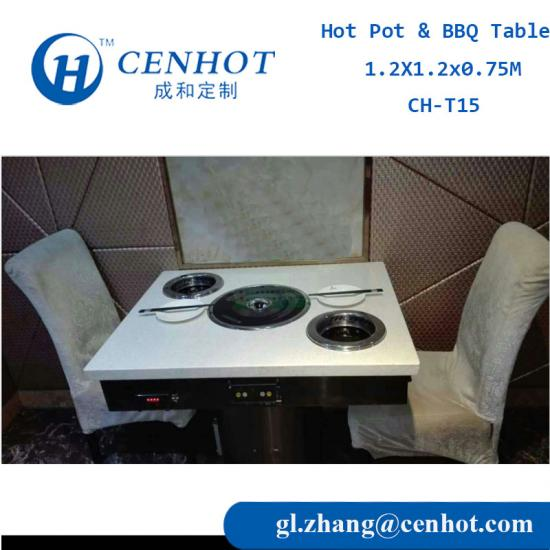 Korean BBQ Grill Table,BBQ Grill And Hotpot Table,Hot Pot Table Manufacture From China - CENHOT