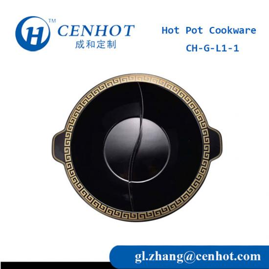 Twin Hot Pot Cookware With Enamel In China - CENHOT