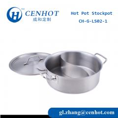34cm Stainless Steel Hot Pot Thickened Bottom With Divider China - CENHOT