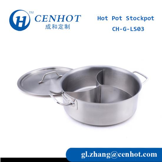 Stainless Steel Chinese Hot Pots Cookware With 3 Devided Manufacture - CENHOT