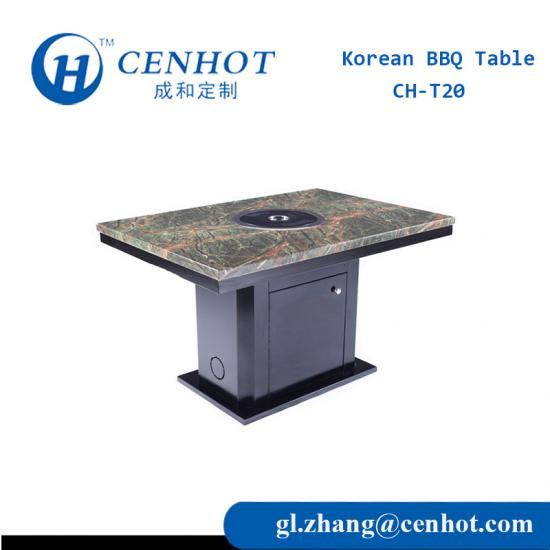 Built In Restaurant Korean BBQ Table For Sale - CENHOT