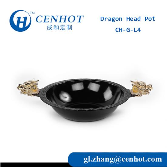 Dragon Head Hot Pot With Enamel Material Suppliers China