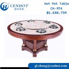 Wooden Hot Pot Table With Induction Cookers Suppliers China